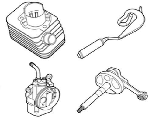 Vespa Ciao Cilinders, Carburateurs, Koppeling & meer