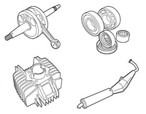 Tomos Cilinders, Carburateurs, Lagers, Uitlaten & Meer