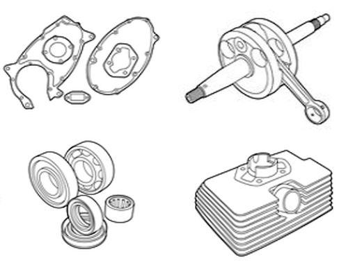 Zündapp motordelen, carburateurs, cilinders, krukassen & meer