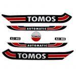 Stickerset Tomos A3 Oud Model Rood/Zwart