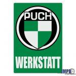 Werkstatt Sticker Puch Duits