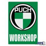 Workshop Sticker Puch Engels