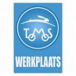 Werkplaatssticker Tomos Blauw Nederlands