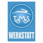 Werkstatt Sticker Tomos Blauw Duits