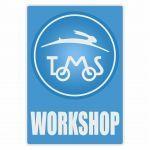 Workshop Sticker Tomos Blauw Engels