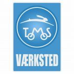 Vaerksted Sticker Tomos Blauw Deens