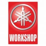 Workshop Sticker Yamaha Engels