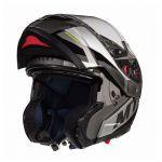 Helm Systeem MT Atom Transcend SV Zwart Glans/Mat Grijs