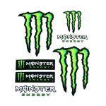 Stickervel Monster 6 Delig Klein