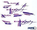 Stickerset Puch Rider Lady Paars