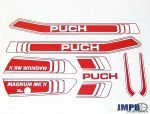 Stickerset Puch Magnum MKII Rood/Wit