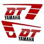 Stickerset Yamaha DT50MX Rood/Wit