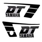 Stickerset Yamaha DT50MX Zwart/Wit